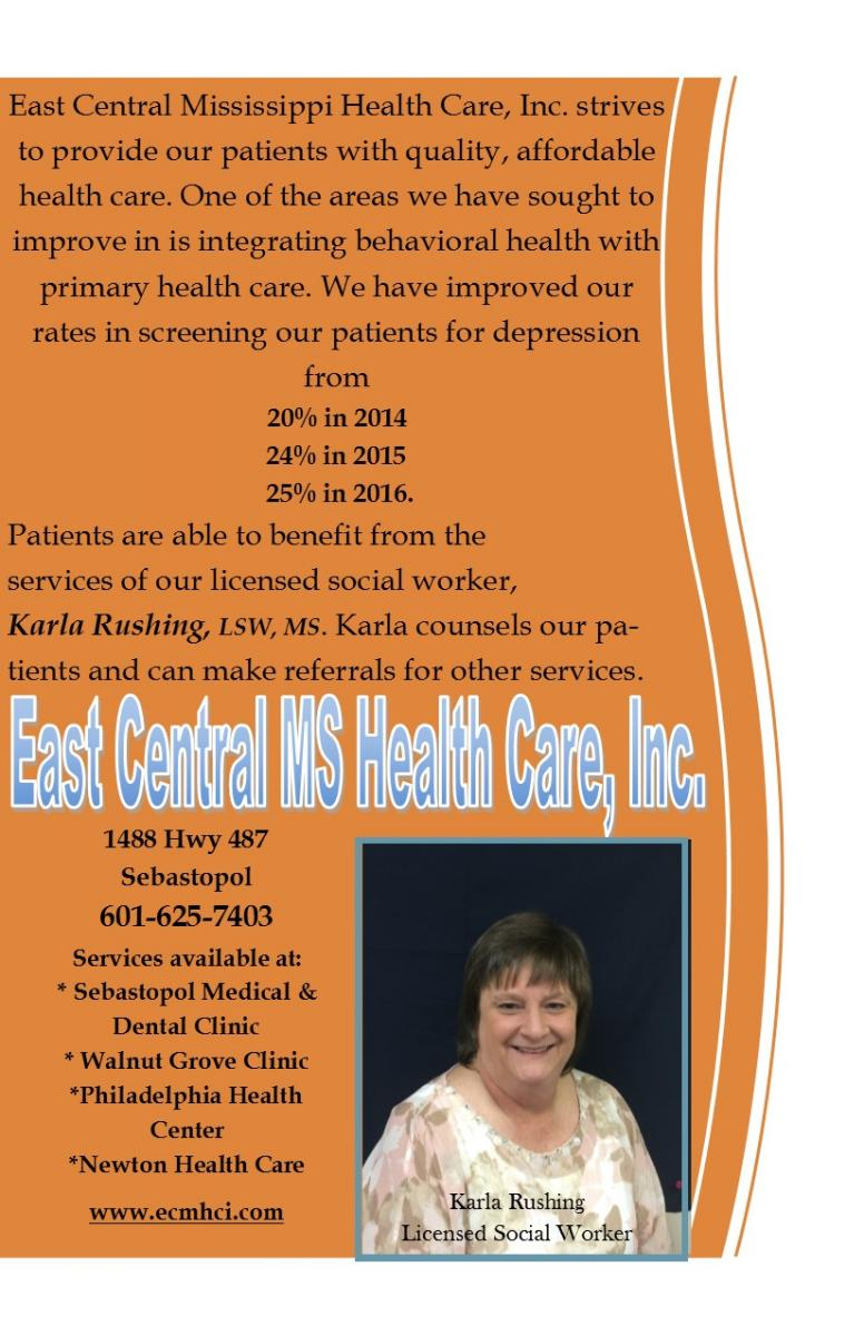 Mississippi scott county sebastopol - Patients Are Able To Benefit From The Services Of Our Licensed Social Worker Karla Rushing Lsw Ms Karla Counsels Our Patients And Can Make Referrals For